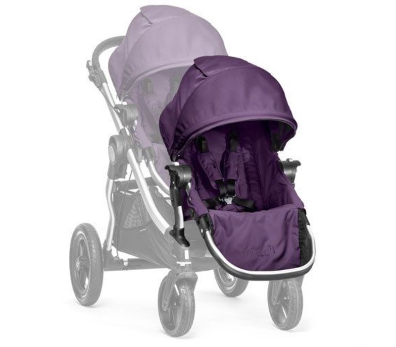 2018 Baby Jogger City Select Second Seat Kit In Amethyst - Silver Frame