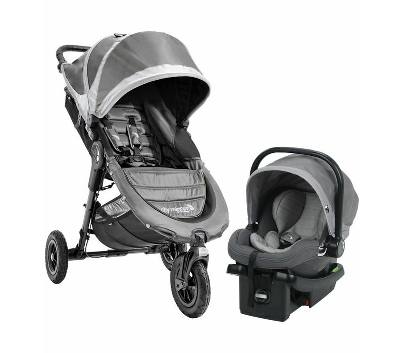 2017 Baby Jogger City Mini GT Travel System In Steel Gray