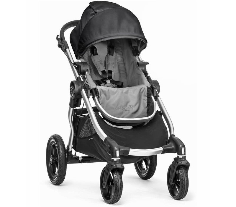 2018 Baby Jogger City Select Single In Gray With Silver Frame