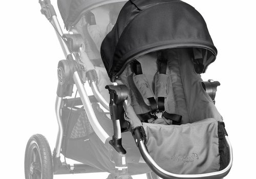 Baby Jogger 2018 Baby Jogger City Select Second Seat Kit In Gray-Black Frame