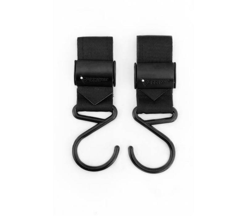 Buggy Gear Boutique Stroller Hooks (Set Of 2) In Matte Black
