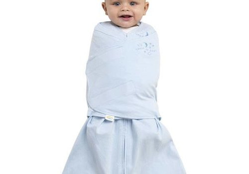 Halo Halo Sleepsack Swaddle 100% Cotton Baby Blue In Newborn