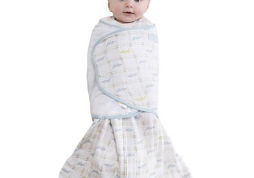 Halo Halo Sleepsack Swaddle Cotton Muslin Gator Plaid In Newborn