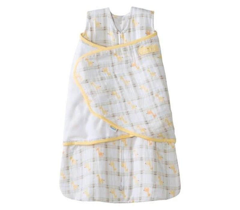 HALO Sleepsack Swaddle Cotton Muslin Yellow Plaid In Newborn