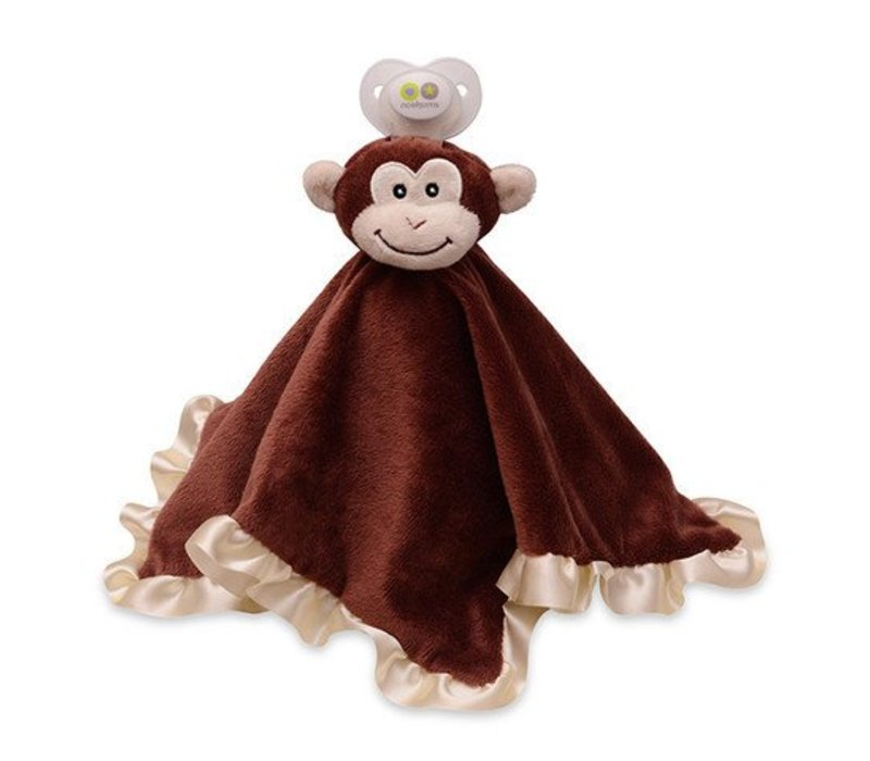 Nookums Milo Monkey Blankies Pacifier Holder