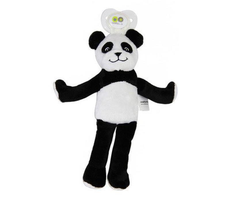 Nookums Paisley Panda Lovies Pacifier Holder
