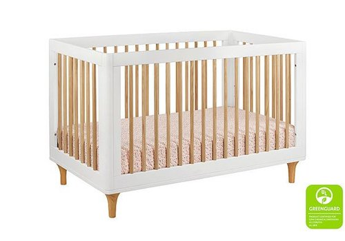 Baby Letto Baby Letto Lolly 3 In 1 Convertible Crib With Toddler Rail - White- Natural
