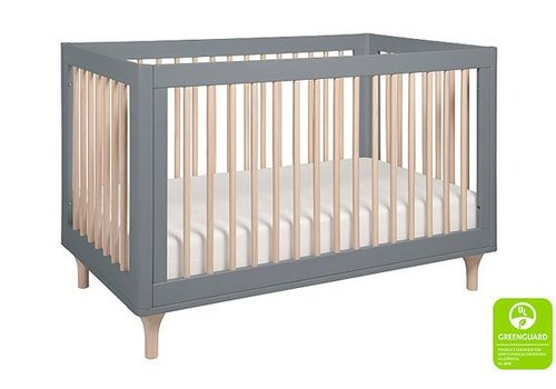 Baby Letto Baby Letto Lolly 3 In 1 Convertible Crib With Toddler Rail - Grey-Washed Natural