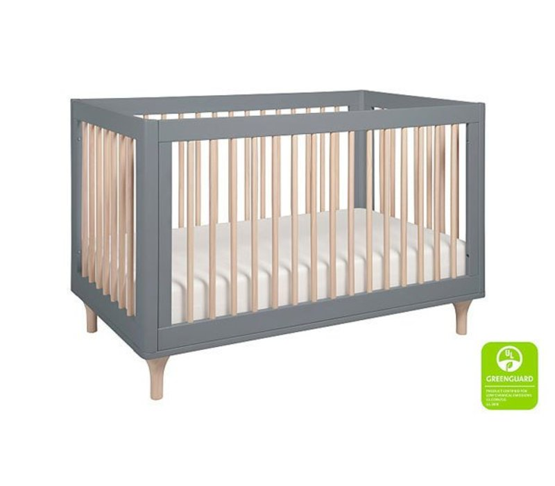 Baby Letto Lolly 3 In 1 Convertible Crib With Toddler Rail - Grey-Washed Natural