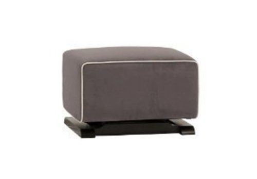 Baby Letto Baby Letto Kyoto Ottoman In Slate With Ecru Piping