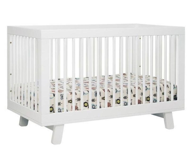 Baby Letto Hudson 3 In 1 Convertible Crib With Toddler Rail In White
