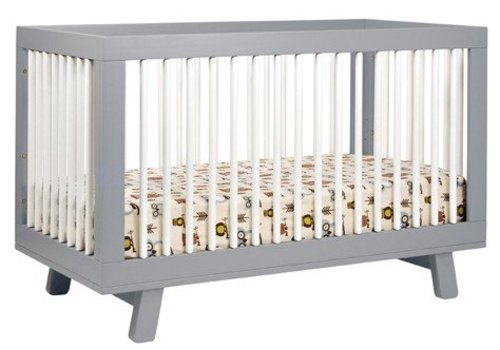Baby Letto Baby Letto Hudson 3 In 1 Convertible Crib With Toddler Rail In Grey With White