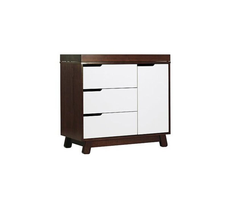 Baby Letto Hudson Dresser With Changer Tray In White With Espresso