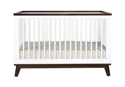 Baby Letto Baby Letto Scoot 3 In 1 Convertible Crib With Toddler Rail In White With Walnut