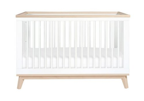 Baby Letto Baby Letto Scoot 3 In 1 Convertible Crib Toddler Rail In White Washed Natural