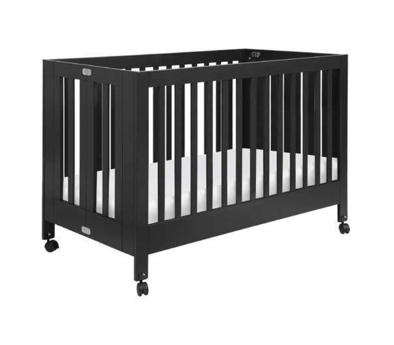Baby Letto Maki Full Folding Crib In Black