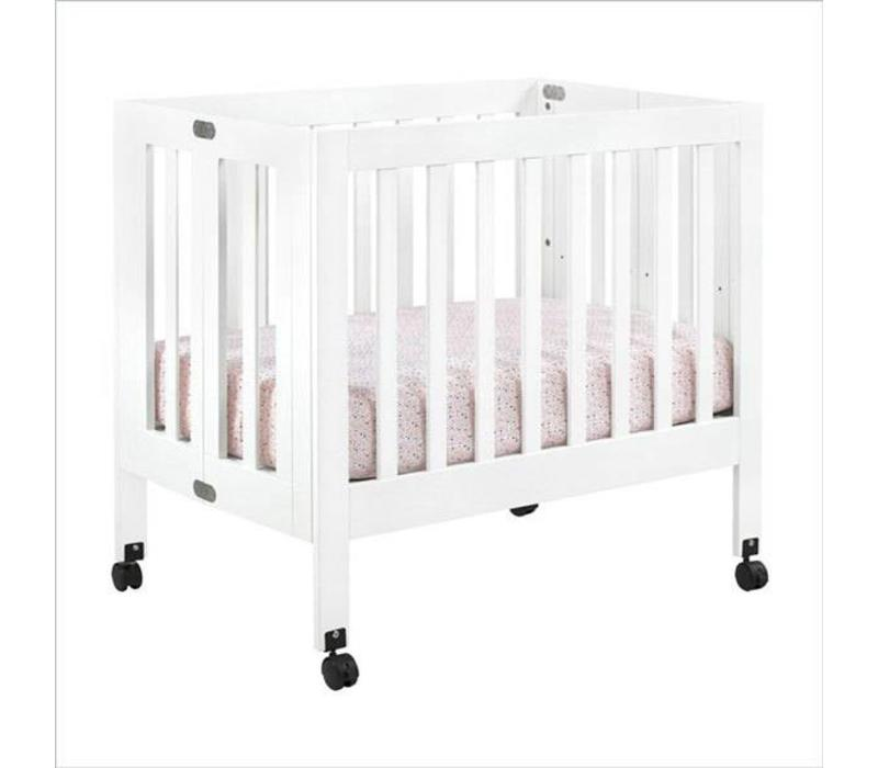 Baby Letto Origami Mini Crib In White (Pad Included)
