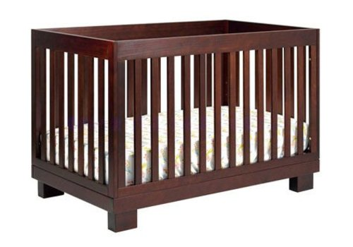 Baby Letto Baby Letto Modo 3 In 1 Convertible Crib With Toddler Rail In Espresso