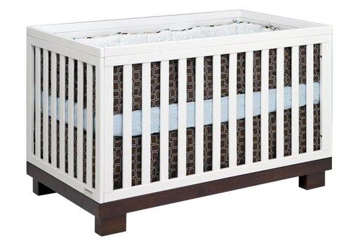 Baby Letto Baby Letto Modo 3 In 1 Convertible Crib With Toddler Rail In Espresso-White