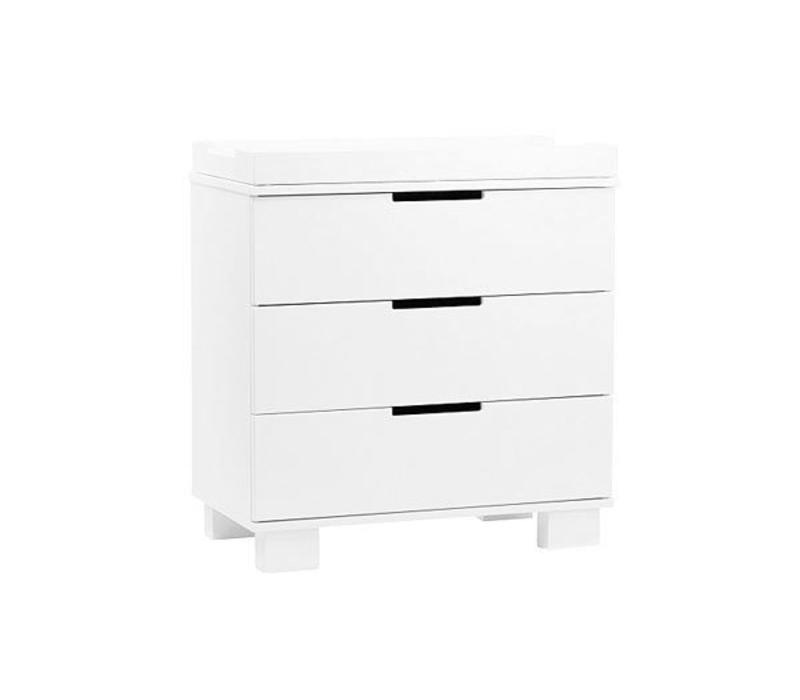 Baby Letto Modo 3 Drawer Changer In White  (No Pad Included)
