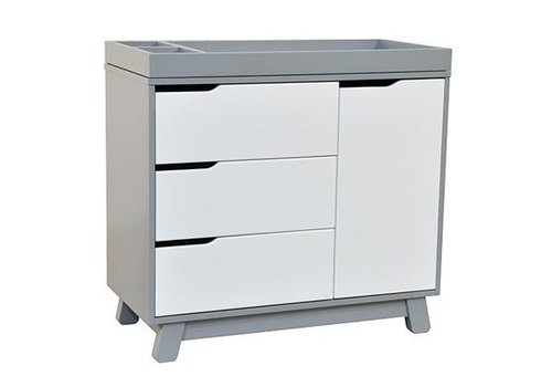 Baby Letto Baby Letto Hudson Dresser With Changer Tray In White With Grey