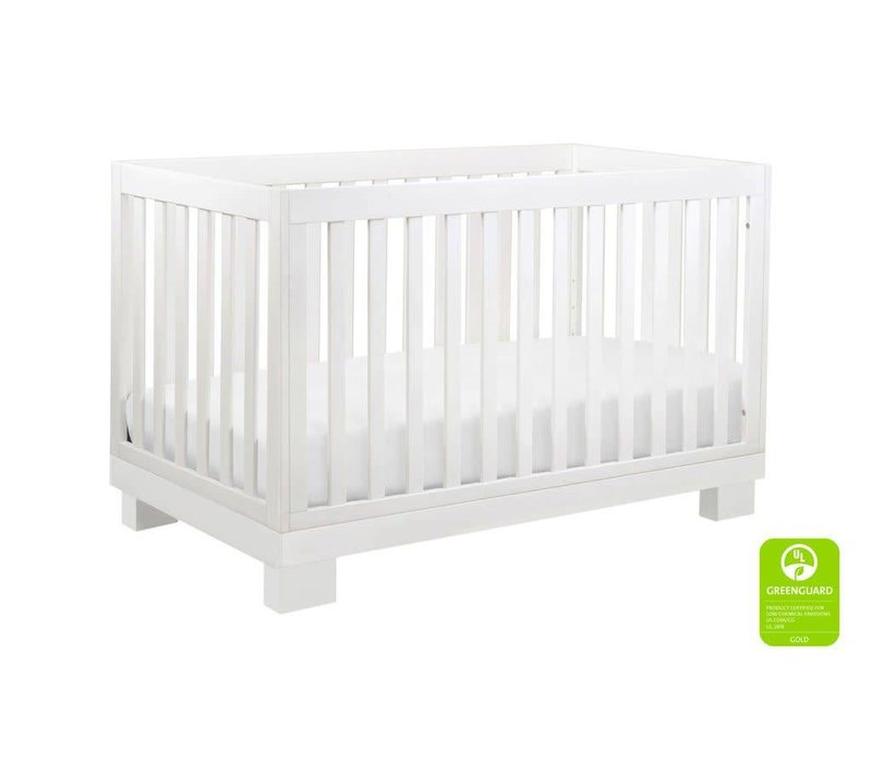 Baby Letto Modo 3 In 1 Convertible Crib With Toddler Rail In White