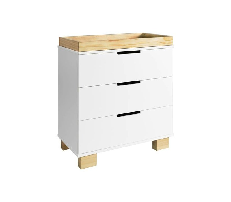 Baby Letto Modo 3 Drawer Changer  In White/Natural