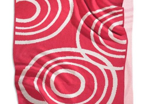 Nook Sleep Nook Sleep Knitted Blanket With Ripple In Blossom
