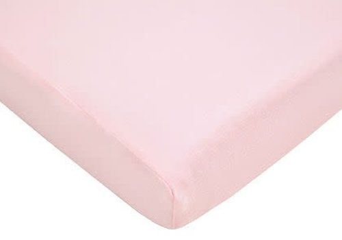 American Baby American Baby Knit Bassinet Sheet In Pink