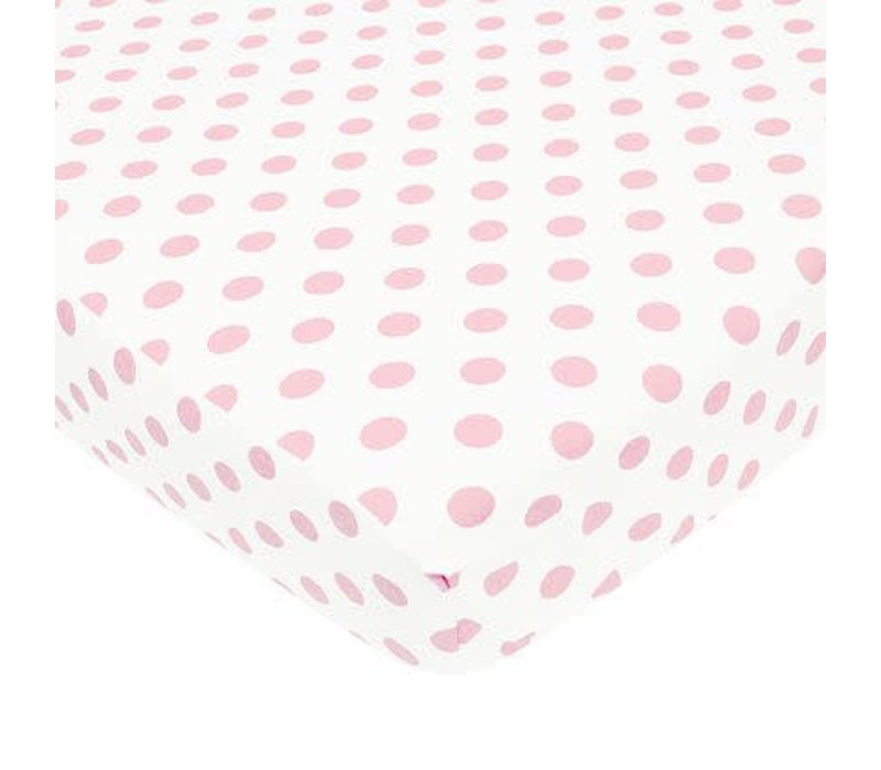 American Baby Percale Crib Sheet Large Pink Dot