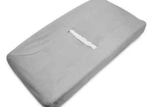 American Baby American Baby Changing Pad Cover Pad In Gray