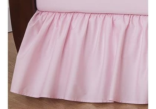 American Baby American Baby Crib Dust Ruffle Skirt In Pink