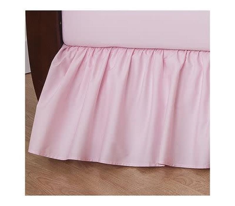 American Baby Crib Dust Ruffle Skirt In Pink