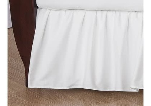American Baby American Baby Crib Dust Ruffle Skirt In White