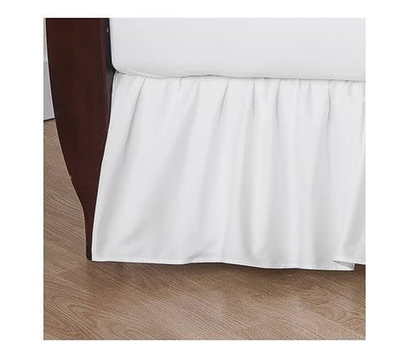 American Baby Crib Dust Ruffle Skirt In White