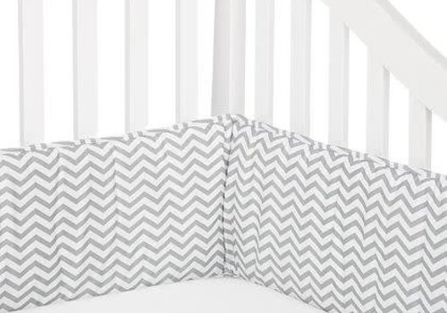 American Baby American Baby Crib Bumper In Chevron