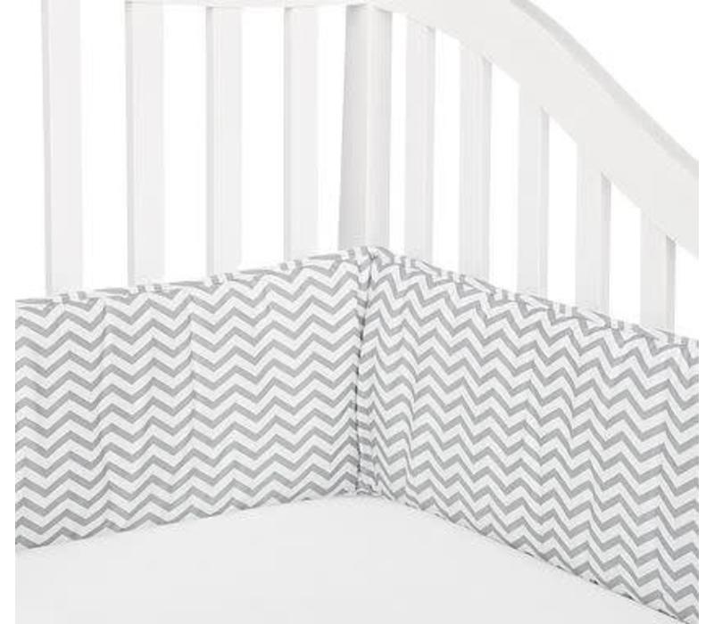 American Baby Standard Crib Size Bumper In Chevron