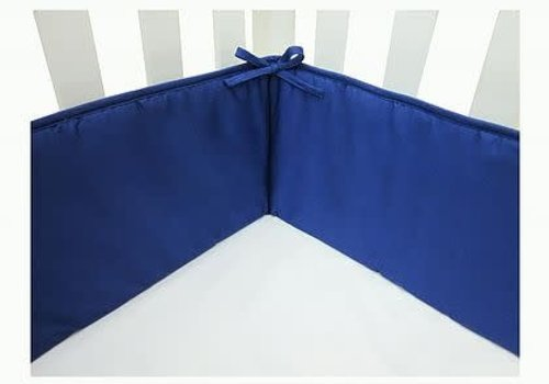 American Baby American Baby Standard Crib Size Bumper In Royal Blue