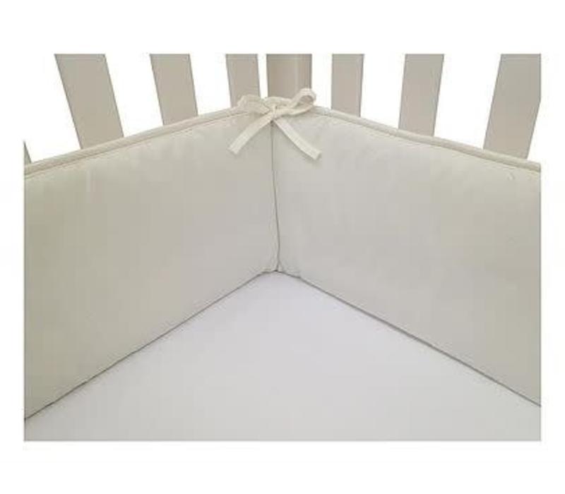 American Baby Standard Crib Size Bumper In White