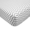 American Baby American Baby Percale Crib Sheet Grey Zigzag