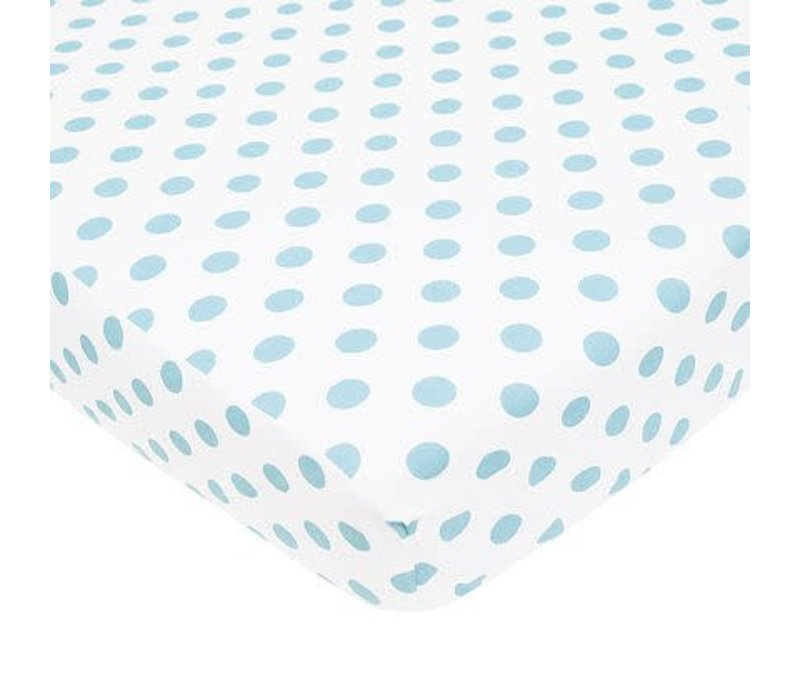 American Baby Percale Crib Sheet Large Blue Dot