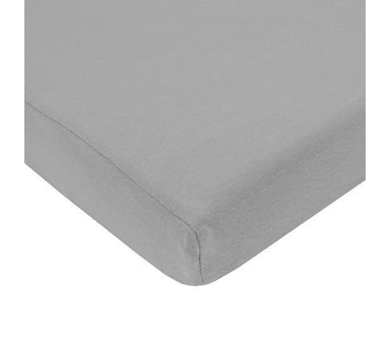 American Baby Knit Porta Crib Sheet In Gray