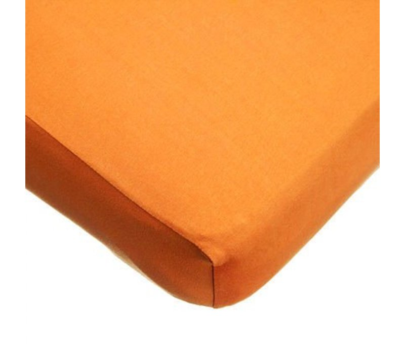 American Baby Knit Crib Sheet In Orange