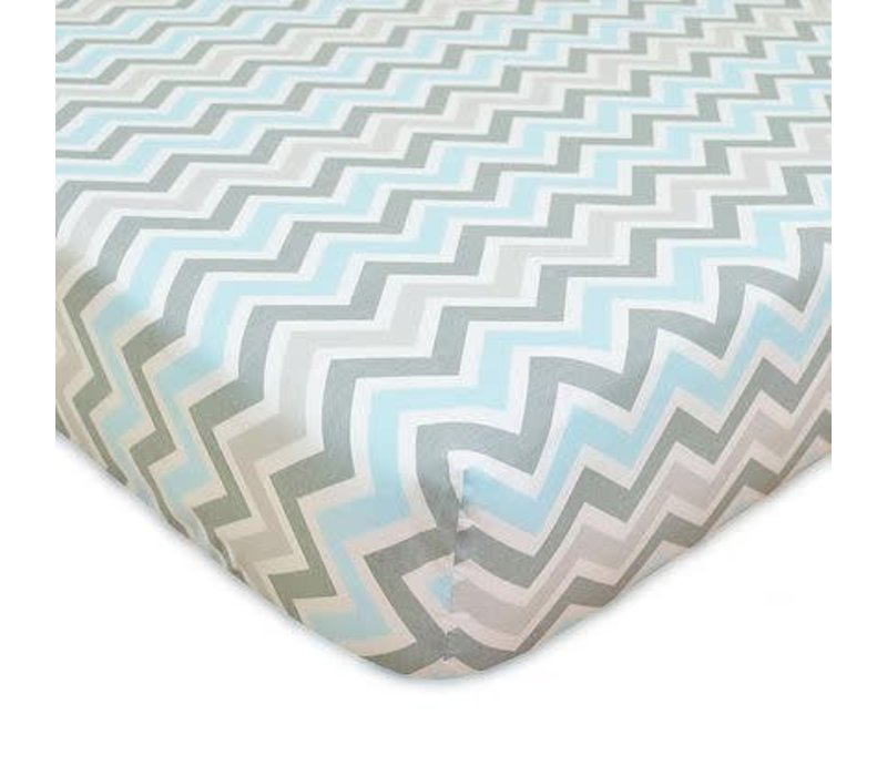 American Baby Percale Crib Sheet BL-ZZ