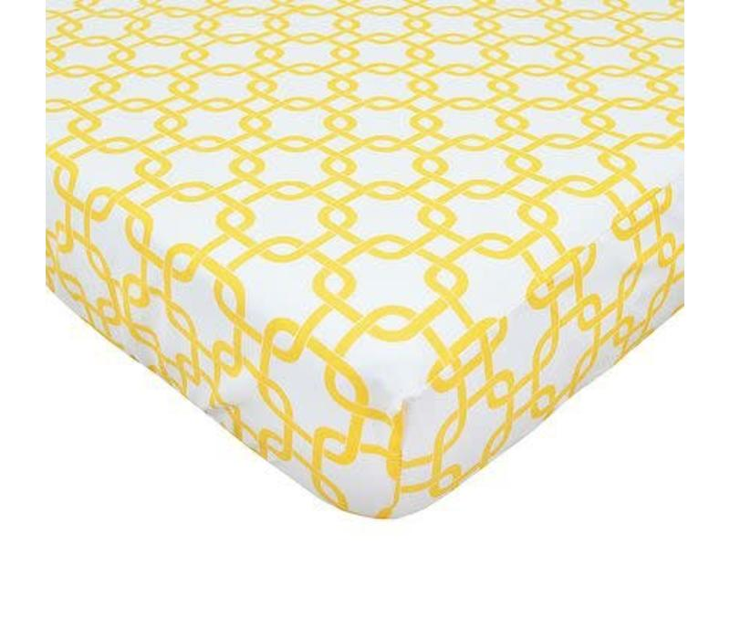 American Baby Percale Crib Sheet Golden Gotcha