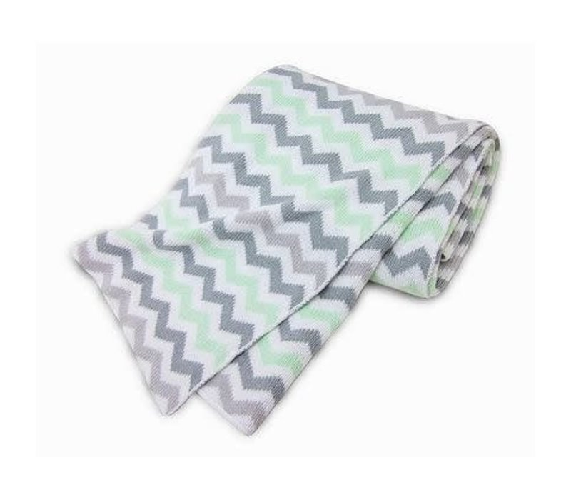 American Baby 100% Cotton Sweater Blanket In CE-ZZ