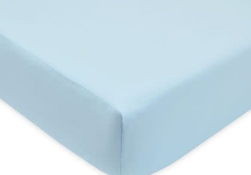American Baby American Baby Knit Cradle Sheet In Blue
