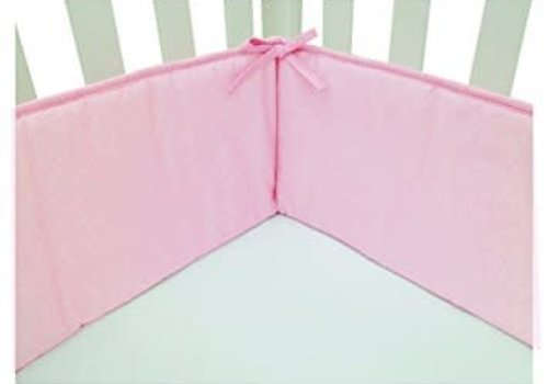 American Baby American Baby Standard Crib Size Bumper In Pink