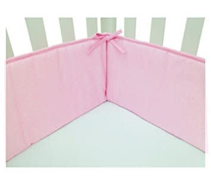 American Baby Standard Crib Size Bumper In Pink