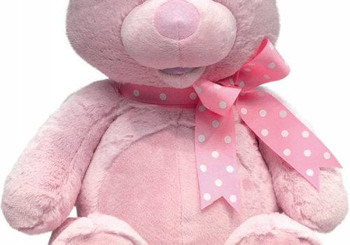 Cuddle Barn Cuddle Barn Animated MY First Singing Teddy -PINK